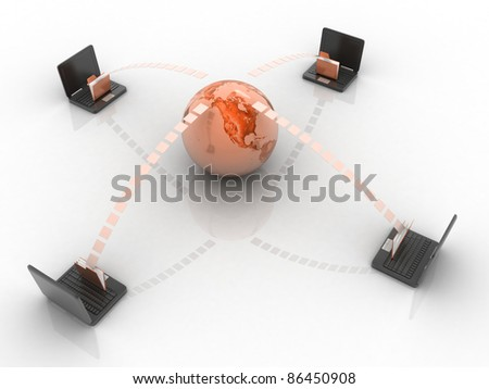 Date transfering  concept - stock photo