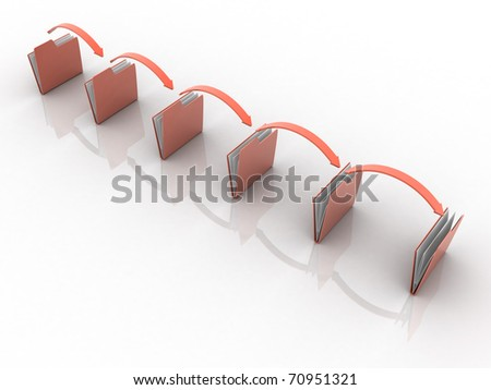 Date transferring - stock photo