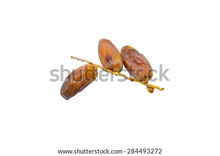 Dates. Kurma dried date palm fruits, Ramadan food which eaten in fasting month for Muslim.