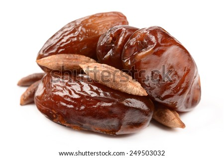 Dates on a white background - stock photo