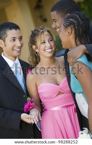 Dating Couples at Formal Dance - stock photo