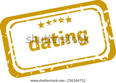 dating stamp isolated on white background - stock photo