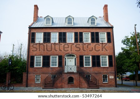 Davenport House, Savannah, Georgia, USA - stock photo