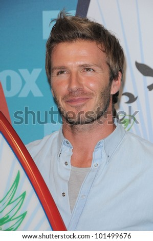 David Beckham at the 2010 Teen Choice Awards - Press Room, Gibson Amphitheater, Universal City, CA. 08-08-10 - stock photo