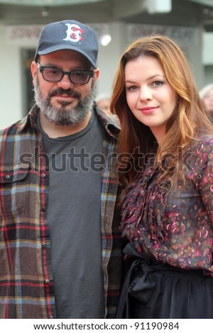 "David Cross, Amber Tamblyn at the ""West Side Story"" Cast Hand and Footprint Ceremony, Chinese Theater, Hollywood, CA 11-15-11 - stock photo"
