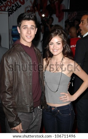 David Henrie and Lucy Hale  at the Los Angeles Premiere of 'High School Musical 3 Senior Year'. USC, Los Angeles, CA. 10-16-08