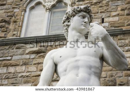 David  Michelangelo - close up - stock photo