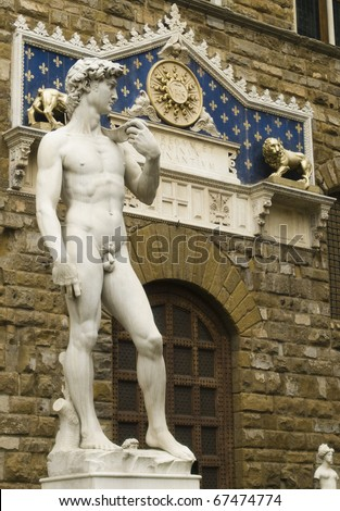 David sculpture in Signoria's Place