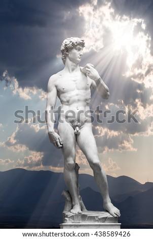 David Statue by Michelangelo - stock photo