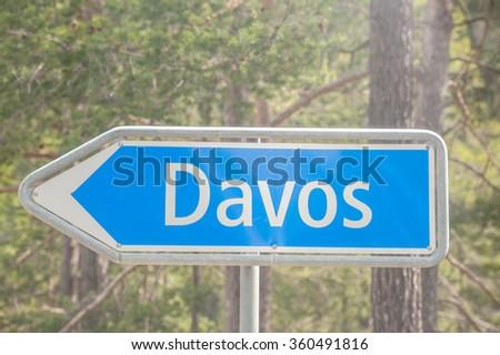 Davos Switzerland - stock photo