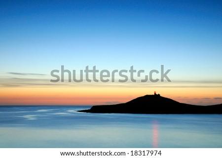 dawn on Atlantic - stock photo