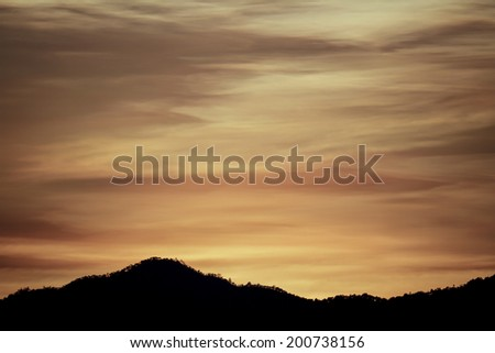 Dawn sky - stock photo