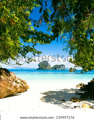 Day Dream Peaceful Paradise - stock photo