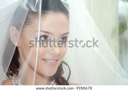 Day of wedding the most solemn and unforgettable in a life of each person - stock photo