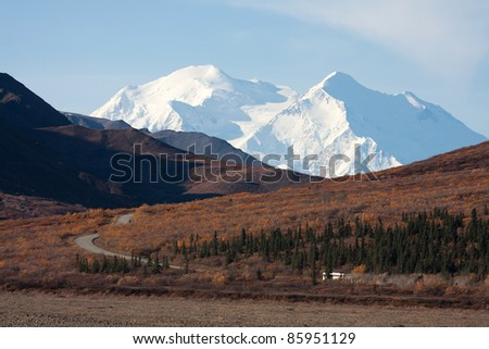 Day Trip in Denali National park in Autumn Alaska North America