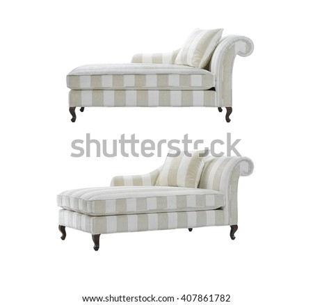 Daybeds stripped design, isolated with clipping mask.  - stock photo
