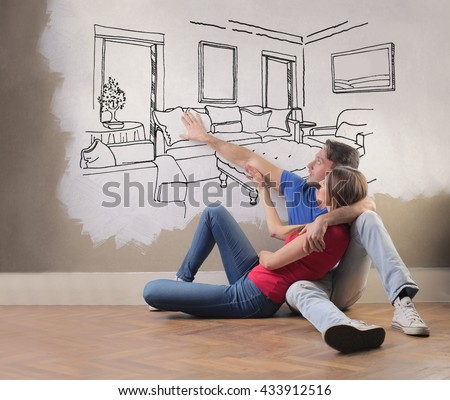 Daydreaming a new home - stock photo