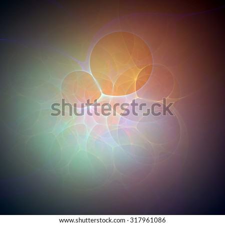 Daydreaming abstract illustration - stock photo