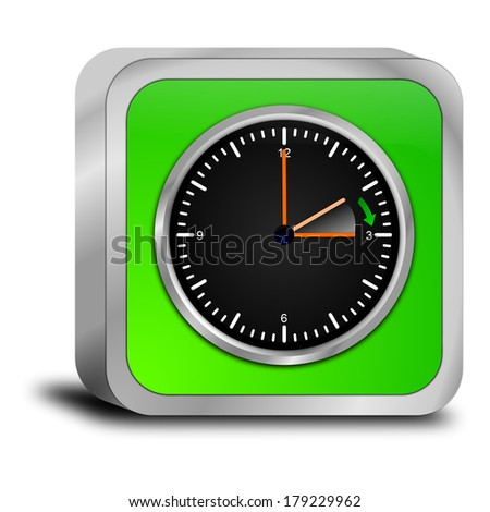 daylight saving time button - stock photo