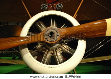DAYTON OH - 17 JULY: 1930's Air CorpsI aircraft motor at the National Museum of the Air Force, Wright-Patterson Air Force Base on 17 July 2011 in Dayton, Ohio. - stock photo