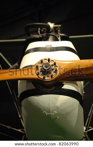 DAYTON OH - JULY 17: World War I aircraft motor at the National Museum of the Air Force, Wright-Patterson Air Force Base on 17 July 2011 in Dayton, Ohio. - stock photo