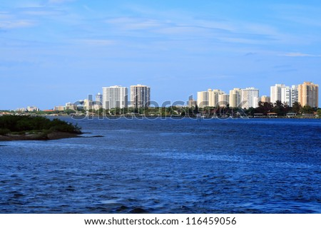 Daytona Beach Florida Intracoastal Waterway - stock photo