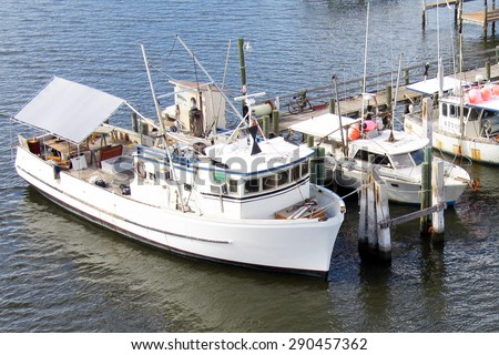 Intra coastal waterway stock photos royalty free images for Commercial fishing florida