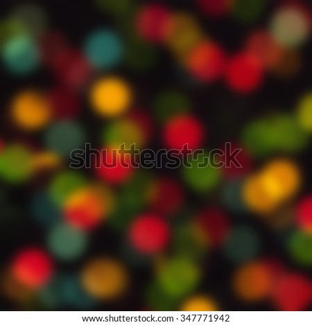 De  focused blurred Christmas lights - stock photo