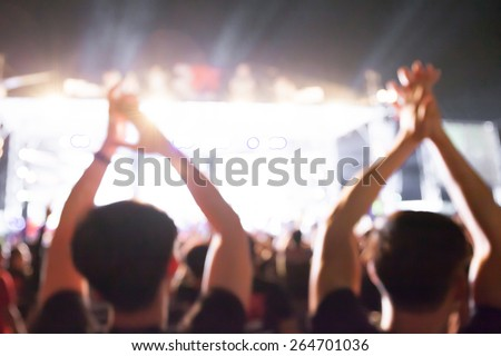 De-Focused Music Band Concert  - stock photo