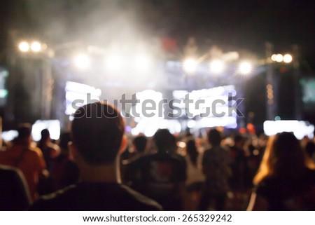 De-Focused Music Band Concert  - stock photo
