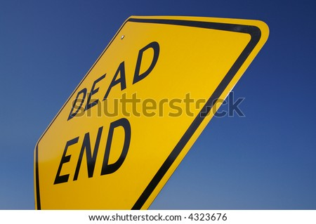 Dead End Traffic Sign WITH clipping path - add you own background.