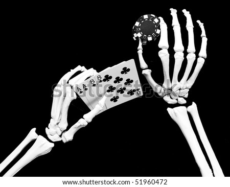 dead mans hand - stock photo