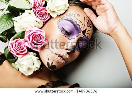 dead mask - stock photo