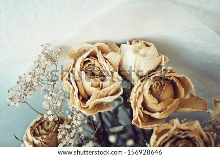 Dead White Roses. Relationship died, Divorce.