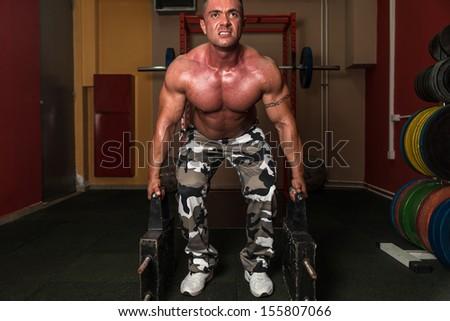 Deadlift Heavy Weights - stock photo