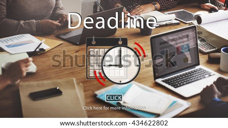 Deadline Appointment Organizer Plan Reminder Concept - stock photo