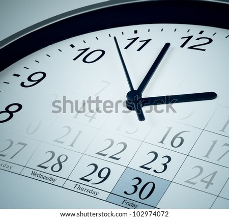deadline end of month  concept - stock photo