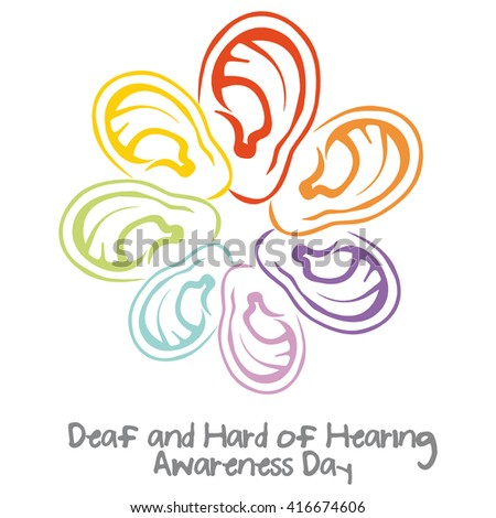 Deaf and hard of hearing awareness day - stock photo
