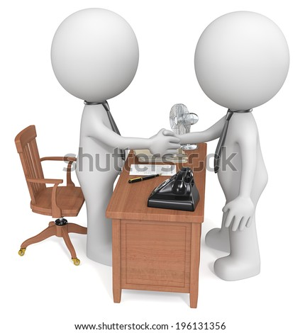 Deal done. Dudes shaking hands at office desk. Noir style. - stock photo