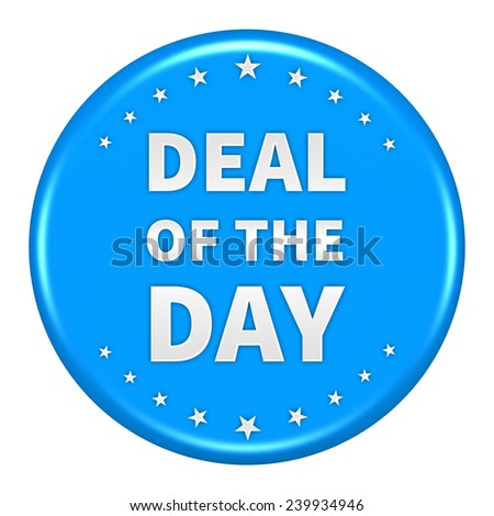 Deal of the day icon isolated - stock photo
