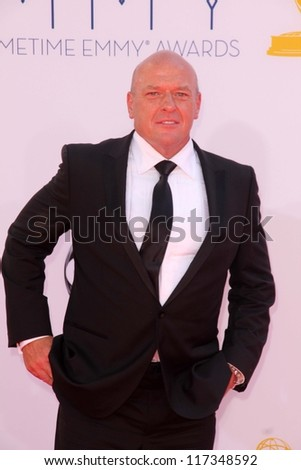 Dean Norris at the 2012 Primetime Emmy Awards Arrivals, Nokia Theater, Los Angeles, CA 09-23-12 - stock photo