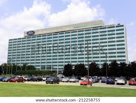 Dearborn mi july 31 ford motor stock photo 212258755 for Ford motor company in dearborn michigan