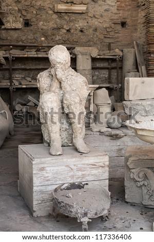 Death in Pompeii - stock photo