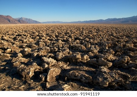Death Valley, Devils Golf Course - stock photo