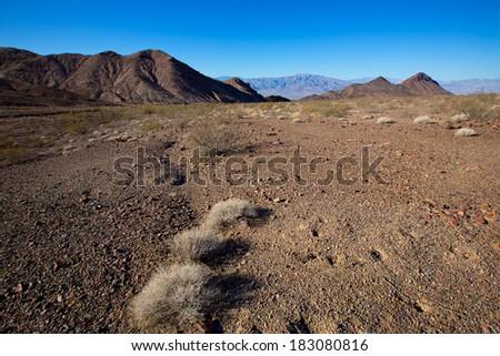 Death Valley National Park California Corkscrew Peak desert - stock photo