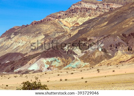 "Death Valley National Park scenic drive ""Artist Palette"" - stock photo"