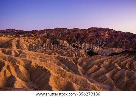 Death Valley National Park Scenic Landscape. California, United States, - stock photo