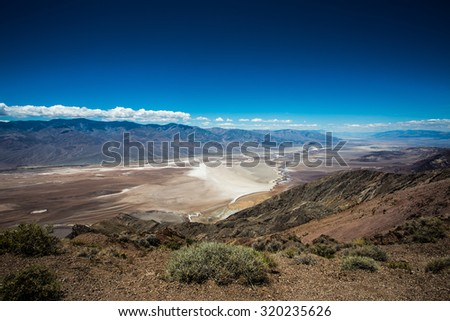 Death Valley Panorama - stock photo