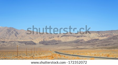 Death Valley panorama in California - stock photo