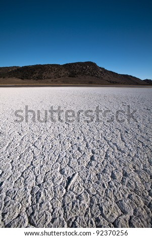 Death Valley Salt patch in California! - stock photo